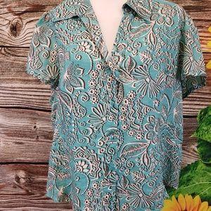 Rafaella 100% linen blouse